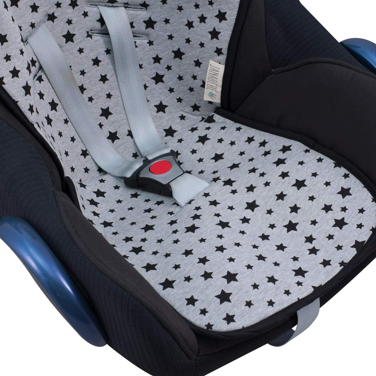 Black Star Janabebe Universal Mat Cover for Carseat gr 01 2 3