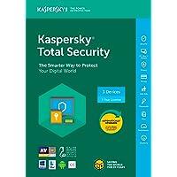 Kaspersky Total Security 2018 | 3 Device | 1 Year [Key Code]