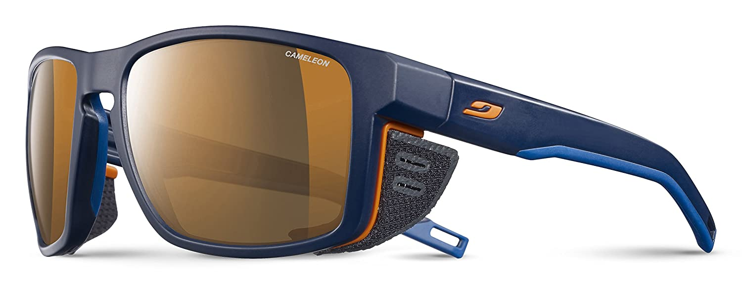 Amazon.com  Julbo Shield Mountain Sunglasses - REACTIV Cameleon -  Blue Blue Orange  Sports   Outdoors 70c051ffcb