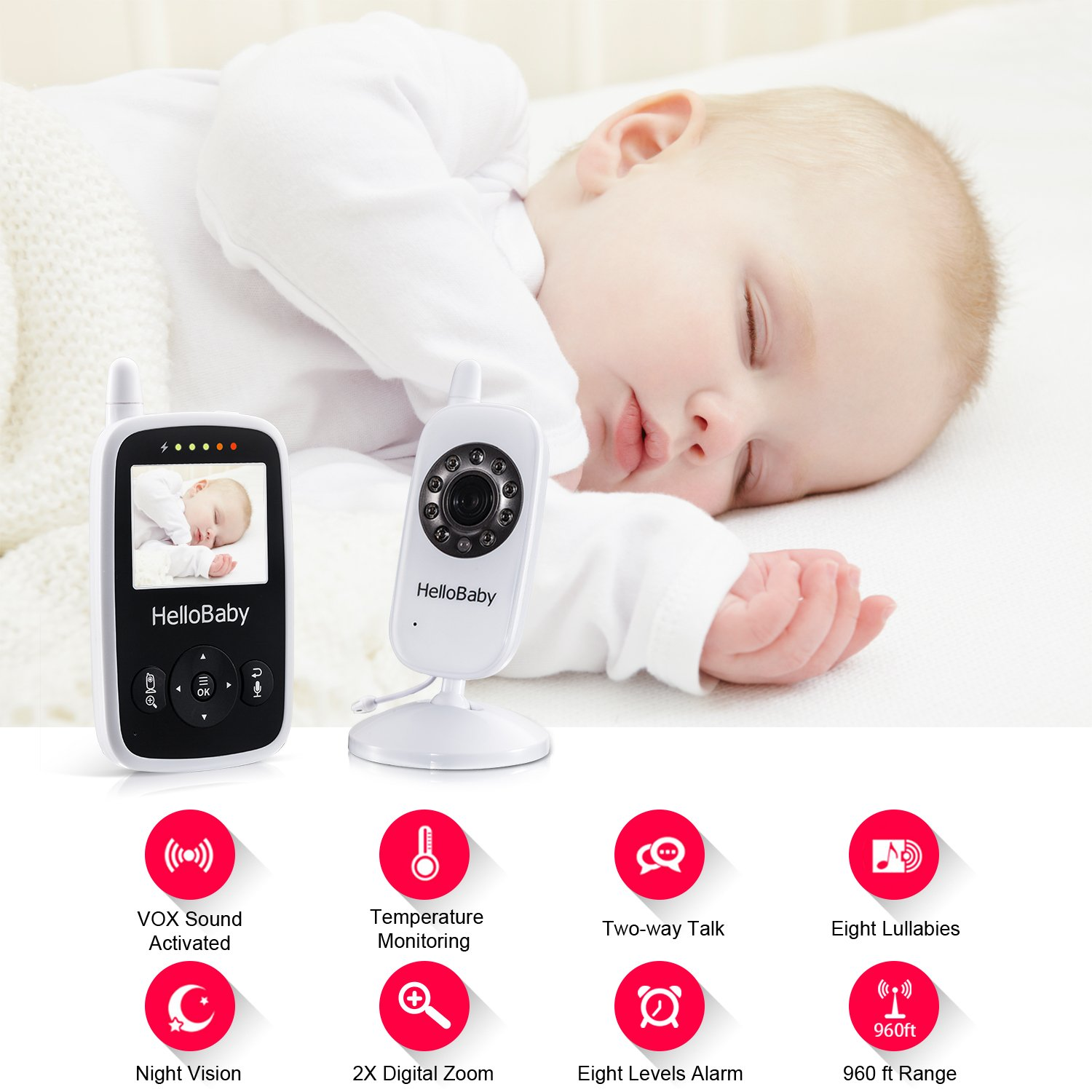 1c3dc633dec HelloBaby Wireless Video Baby Monitor with Digital Camera