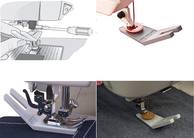 ngosew Viking Husqvarna limpieza placa/botón prensatelas para Reed – para todas las máquinas de coser: Amazon.es: Juguetes y juegos