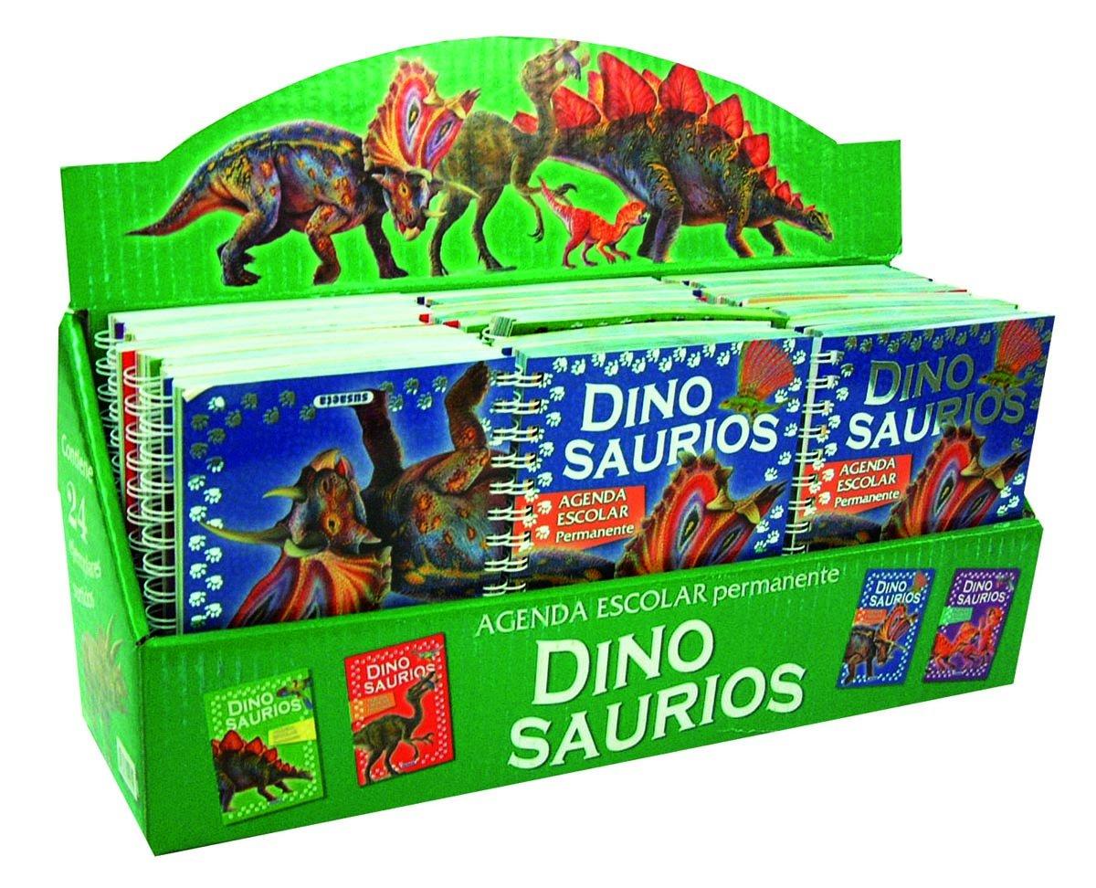 Estuche agenda escolar permanente dinosaurios (24 ejemplares ...