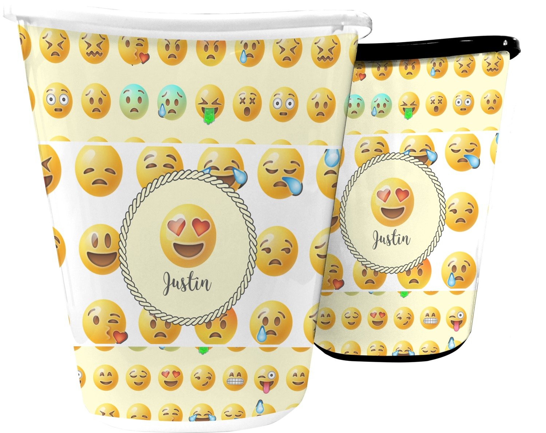Emojis Waste Basket (Black) (Personalized)