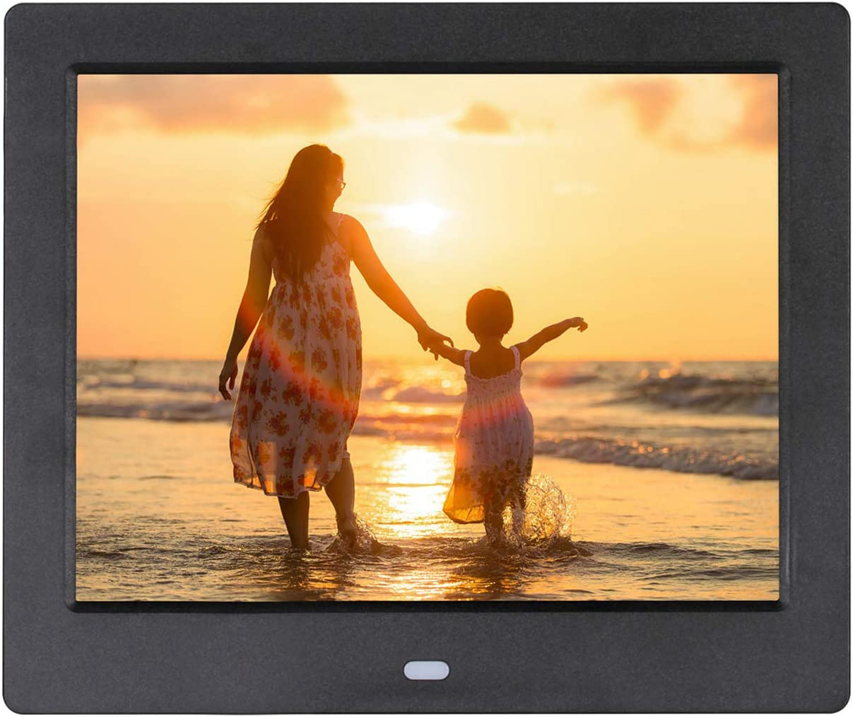 ACOWSUN Digital Picture Frame 10 Inch HD 1024X600 Plastic case Can Play Photos Music Videos When Insert Photo Frames USB SD with Remote Control and 4G SD Card Include