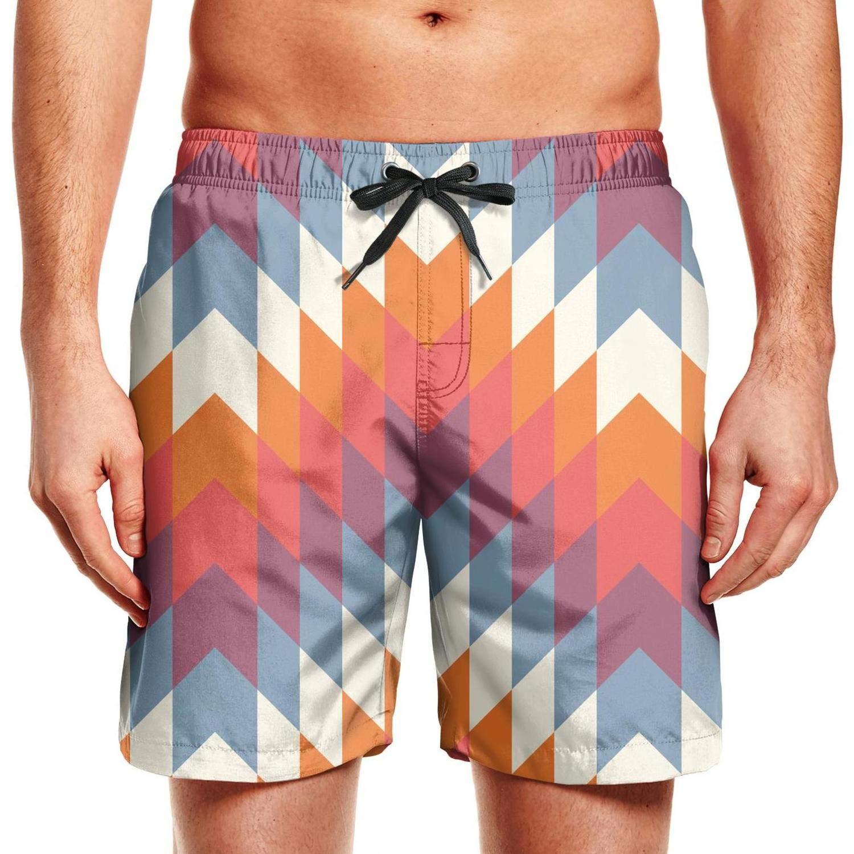 WCAO Colorful Mosaic Boho Board Shorts Mens Summer Holiday Short