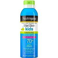 Neutrogena Wet Skin Kids Sunscreen Spray Mist, Water-Resistant and Oil-Free, Broad Spectrum SPF 70+ UVA/UVB Protection…