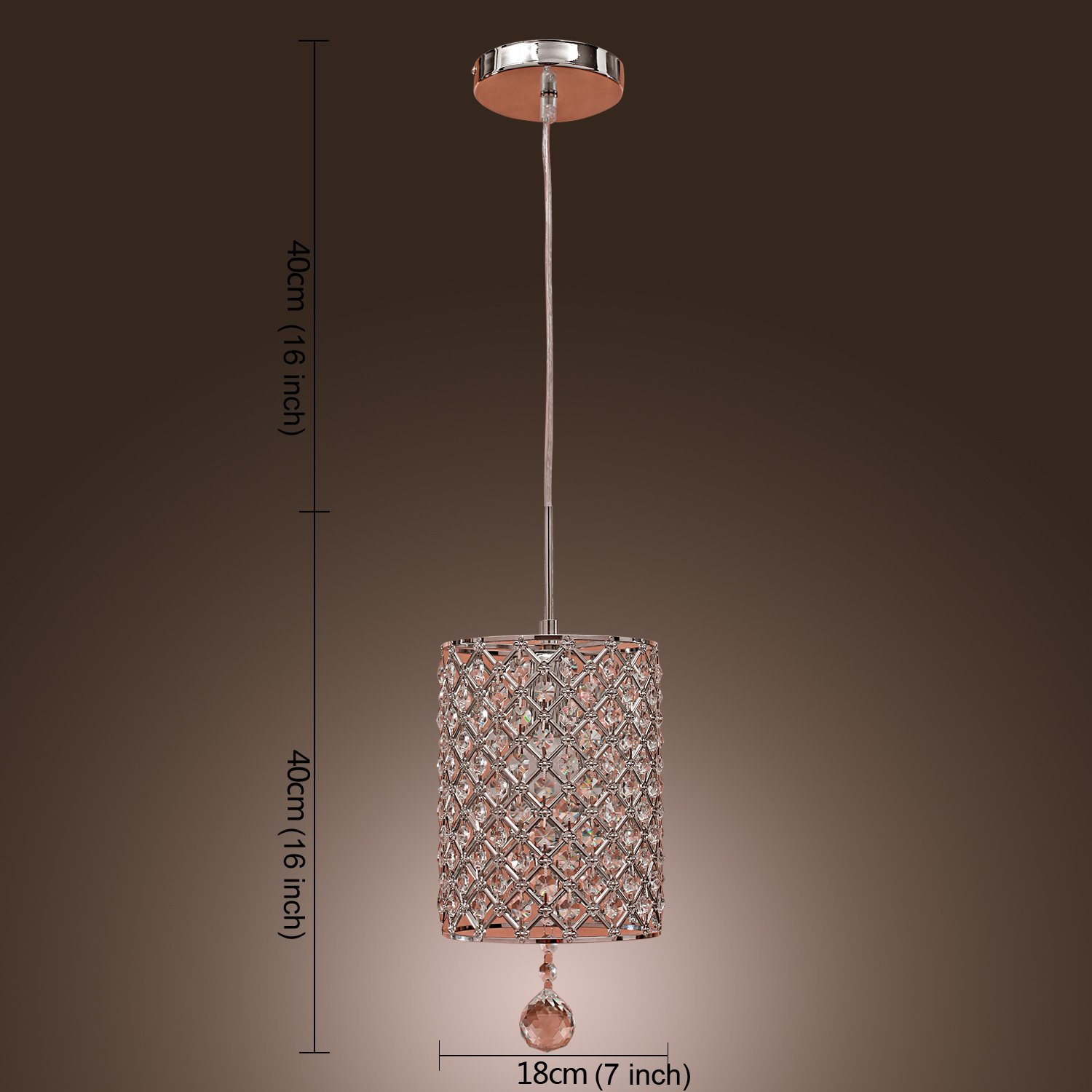 lightinthebox contemporary crystal drop pendant light in cylinder  - lightinthebox contemporary crystal drop pendant light in cylinder stylemodern home ceiling light fixture flush mount pendant light chandelierslighting