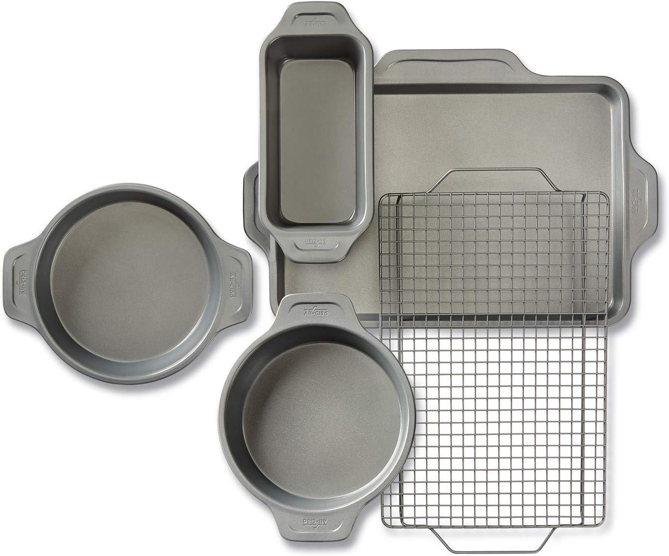 All-Clad J2575S64 Pro-Release bakeware set, 5 piece, Grey