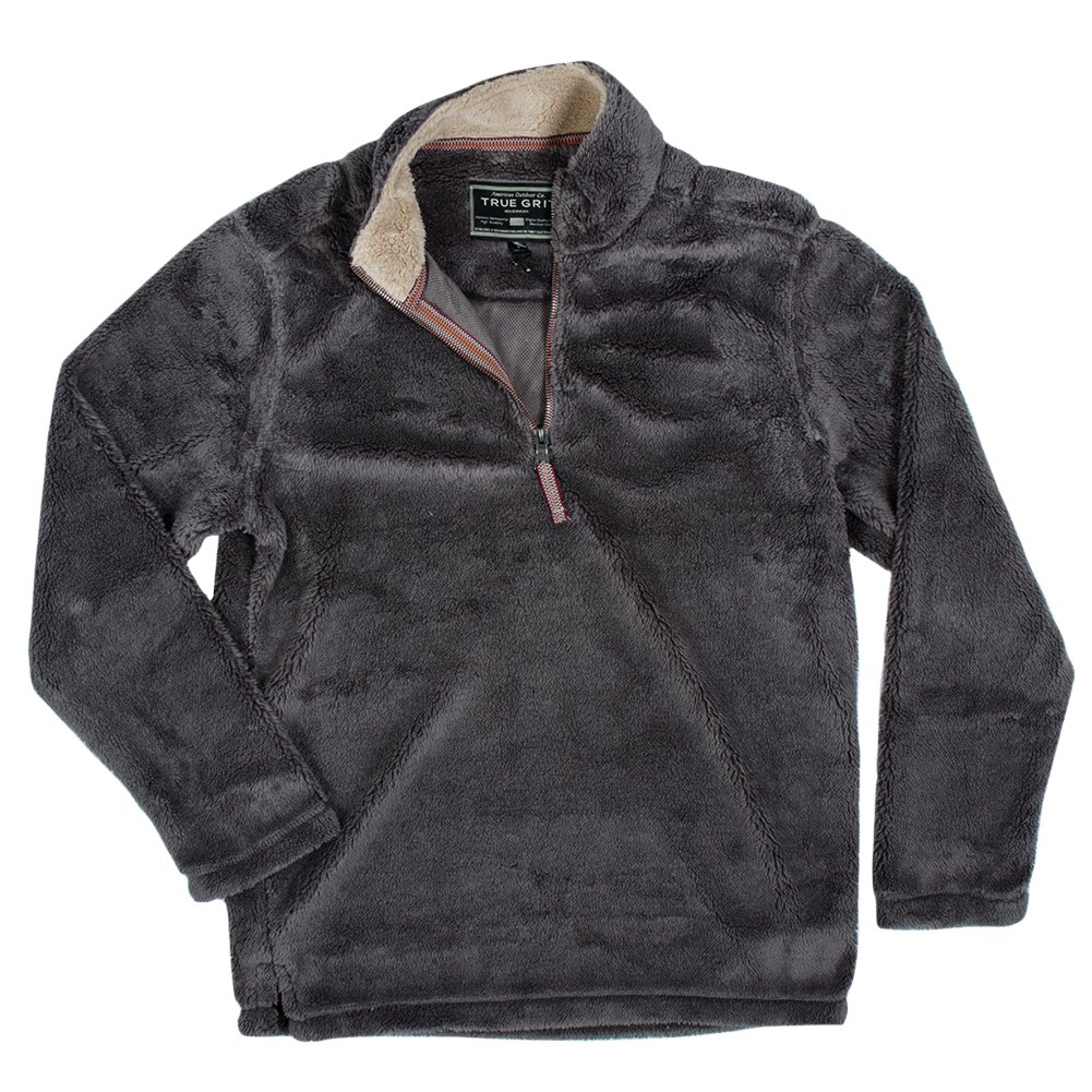 True Grit Men's Pebble Pile 1/4 Zip Pullover, Harley Black, X-Small