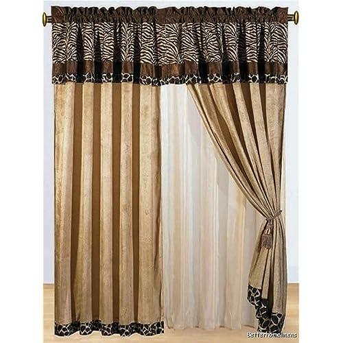 Cheetah Print Curtains: Amazon.com