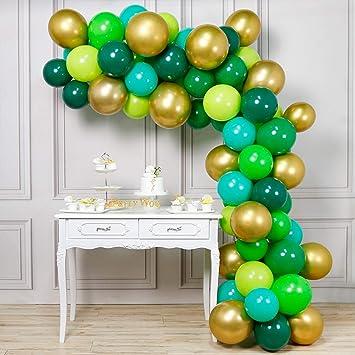 PartyWoo Globos Verdes, Globos de Helio 70 Piezas 12 Pulgadas Globos Verde Mint Globos Verdes Claros Globo Verde Oscuro Globos Verde y Globos ...