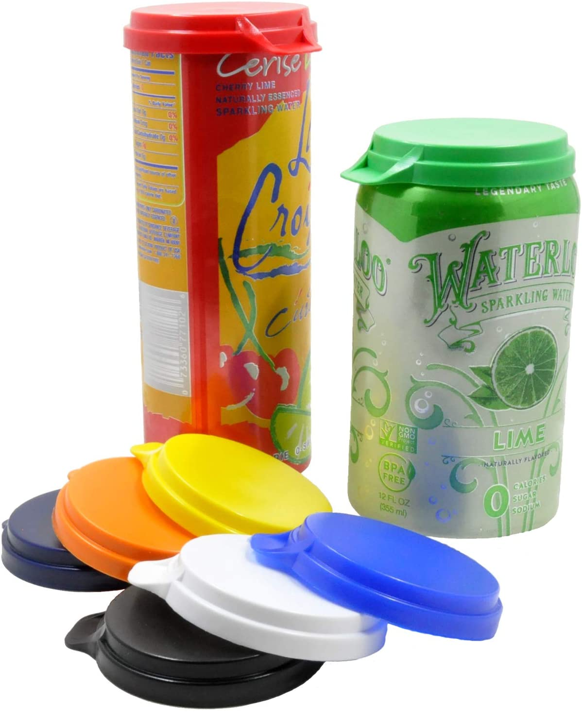 Soda Pop & Beverage Can Covers - Made in USA - Sold by Vets – Prevents Spills - Retains Fizz - BPA-Free