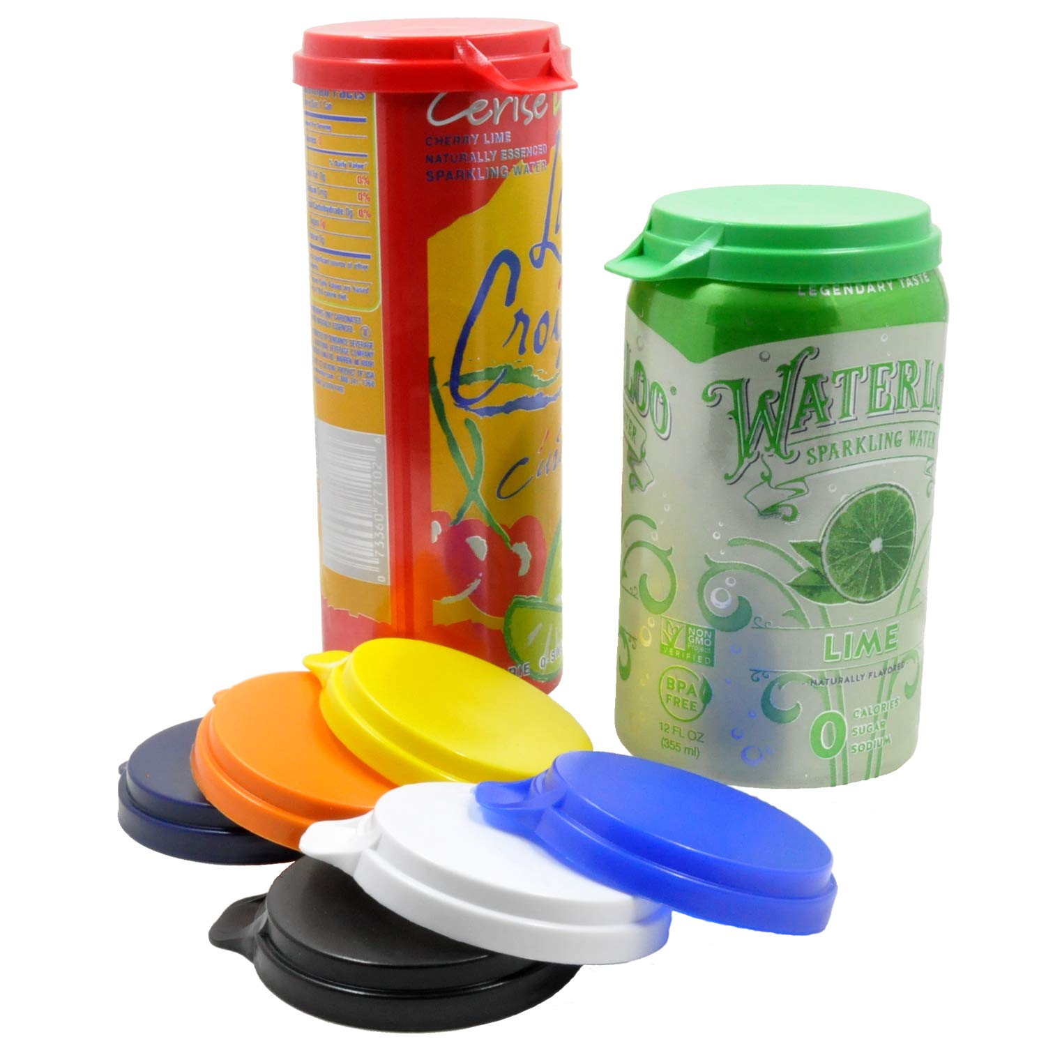 Soda Pop & Beverage Can Covers - Made in USA - Sold by Vets - Prevents Spills - Retains Fizz - BPA-Free by OHSAY USA