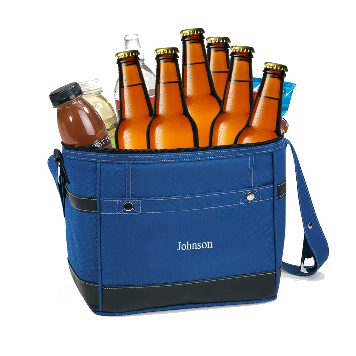 Personalized Blue Cooler Bag - 12-Pack Cooler Tote by A Gift Personalized