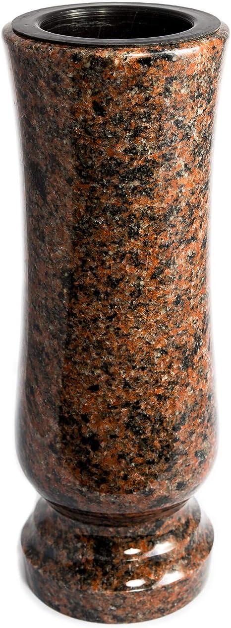 Hochwertiger Grabschmuck aus echtem Granit Aurora India Grabvase Elegant