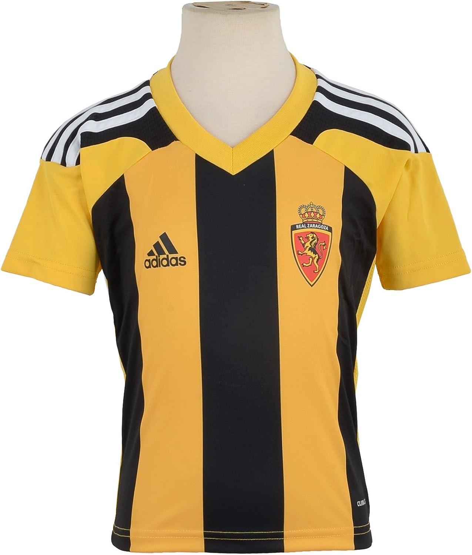 adidas - Equipación del Real Zaragoza Negro, Amarillo Talla:98: Amazon.es: Deportes y aire libre