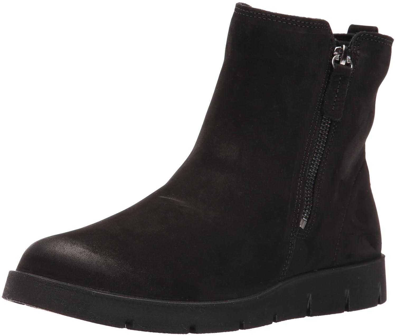 Black Nubuck ECCO shoes Women's Bella Double Zip Ankle Boot