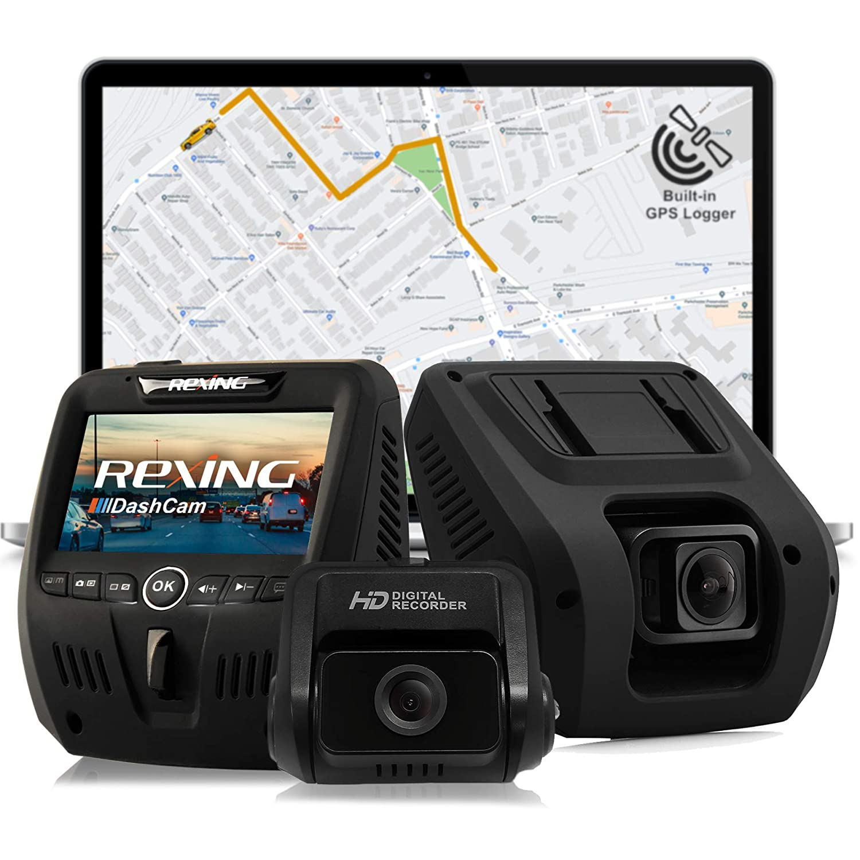 Rexing V1LG Dual Channel Dash Cam}