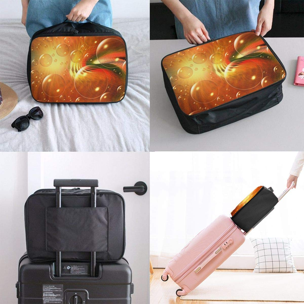 Travel Luggage Duffle Bag Lightweight Portable Handbag Bubbles Large Capacity Waterproof Foldable Storage Tote