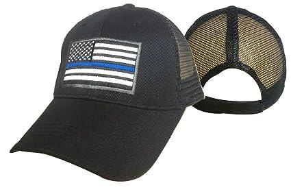 05dd87b9 Amazon.com: MESH Support TBL Police Sheriff THIN BLUE LINE USA Flag ...