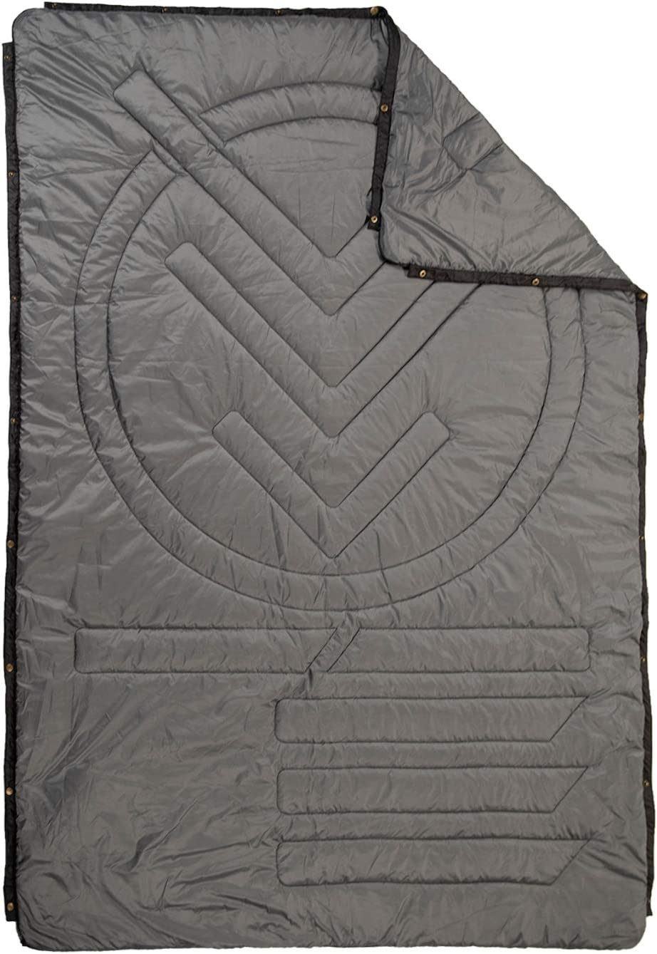 Hiking Picnics /& Festivals VOITED Ripstop Outdoor Pillow Blanket Versatile Insulated /& Water-Resistant Blanket for Camping