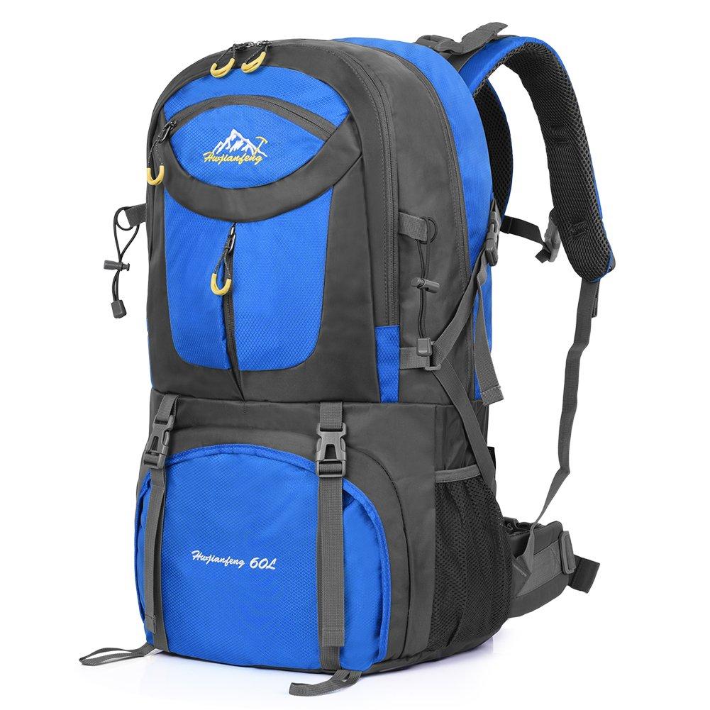 Vbiger 60L Mochila Impermeable Mochila para Deporte al Aire Libre para Escalada Senderismo Trekking Alpinismo con Cubierta para la Lluvia (Fruta verde): ...