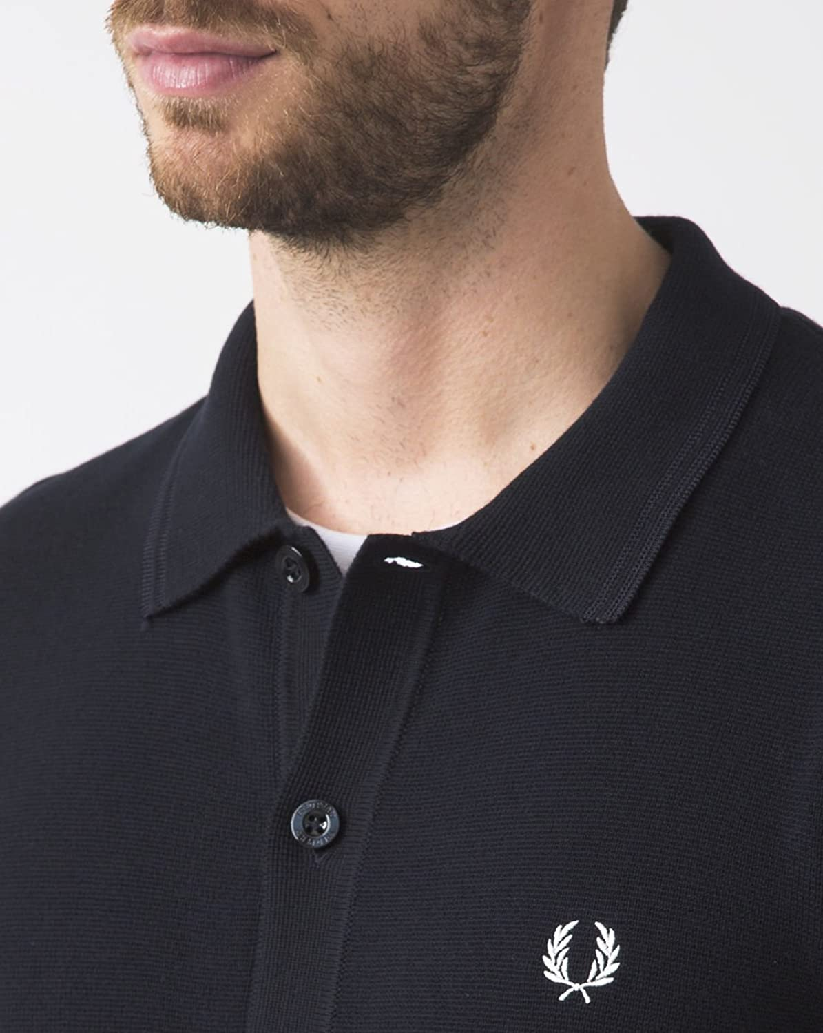Fred Perry Men's Cotton Twin Tipped Cardigan Navy