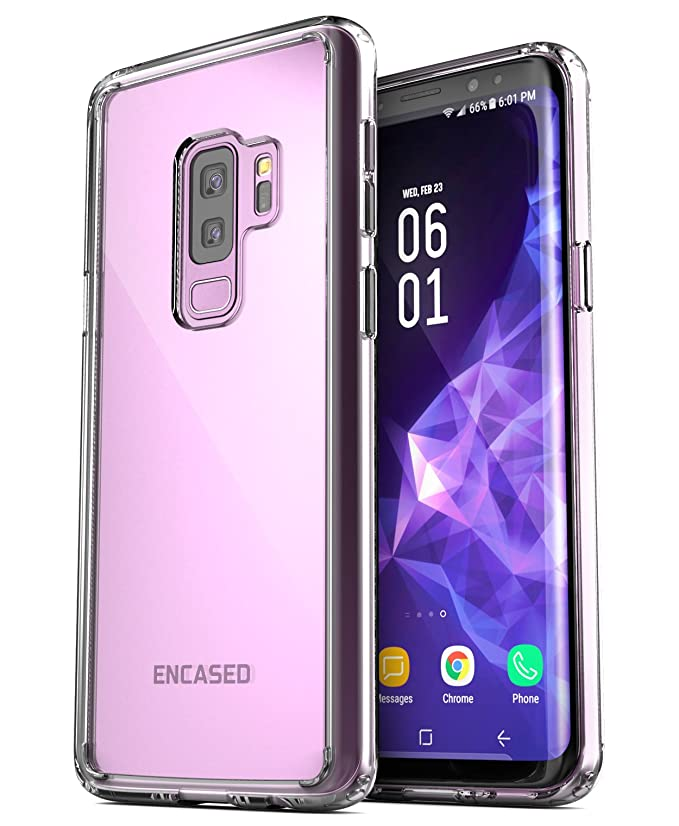 Amazon.com: Galaxy S9 Plus Clear Case - Encased Ultra Thin Transparent Back Grip Cases for Samsung Galaxy S9+ (2018 Release) Clear: Cell Phones & ...