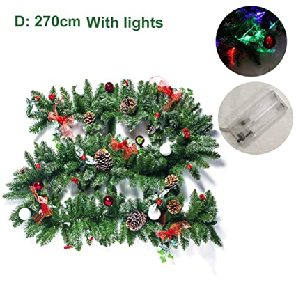 Types Of Artificial Christmas Trees.Chengstore 270cm With Lights Type Christmas Decoration