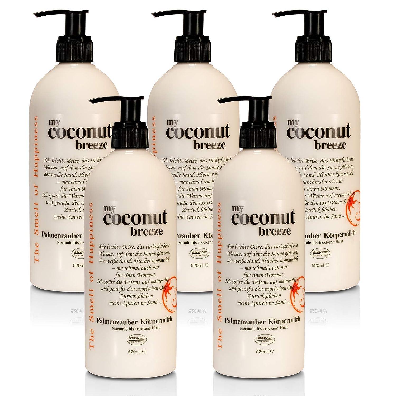 'BRUBAKER Happiness My Coconut Breeze Set 5X Body Lotion da 520ML, Cocco