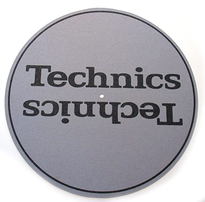 Technics Slipmats Plattentellerauflage aus Filz f/ür LP Vinyl gepunktet twist4/® Rot