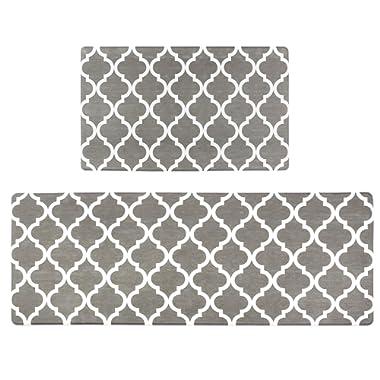 """Homcomoda 2Piece Anti Fatigue Kitchen Floor Mat Comfort Heavy Duty Standing Mats Waterproof Non Slip Kitchen Rugs Indoor Outdoor(18""""×30"""" and 18""""×47"""")"""