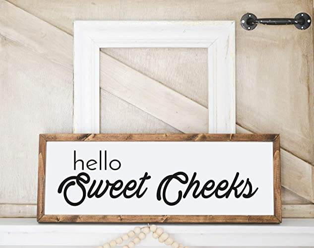 Amazon Hello Sweet Cheeks Bathroom Farmhouse Decor Funny