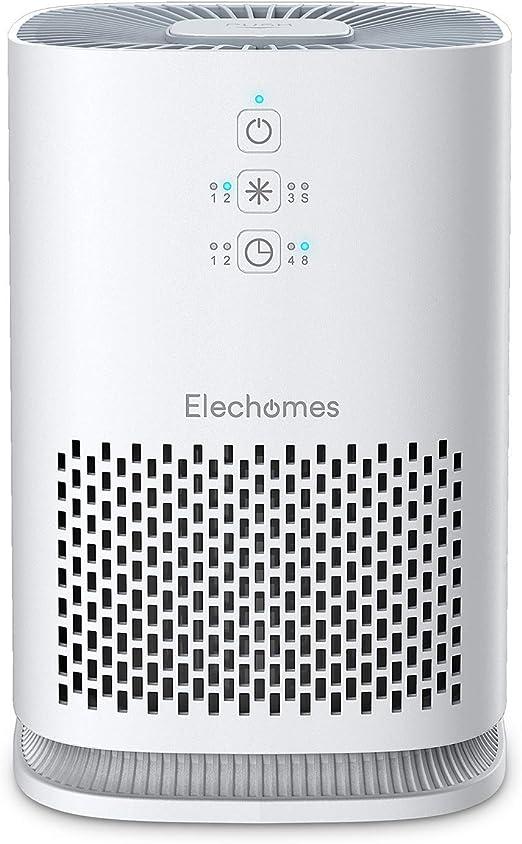 Elechomes Purificador de Aire Hogar, 3 in 1 Filtro HEPA Carbón ...