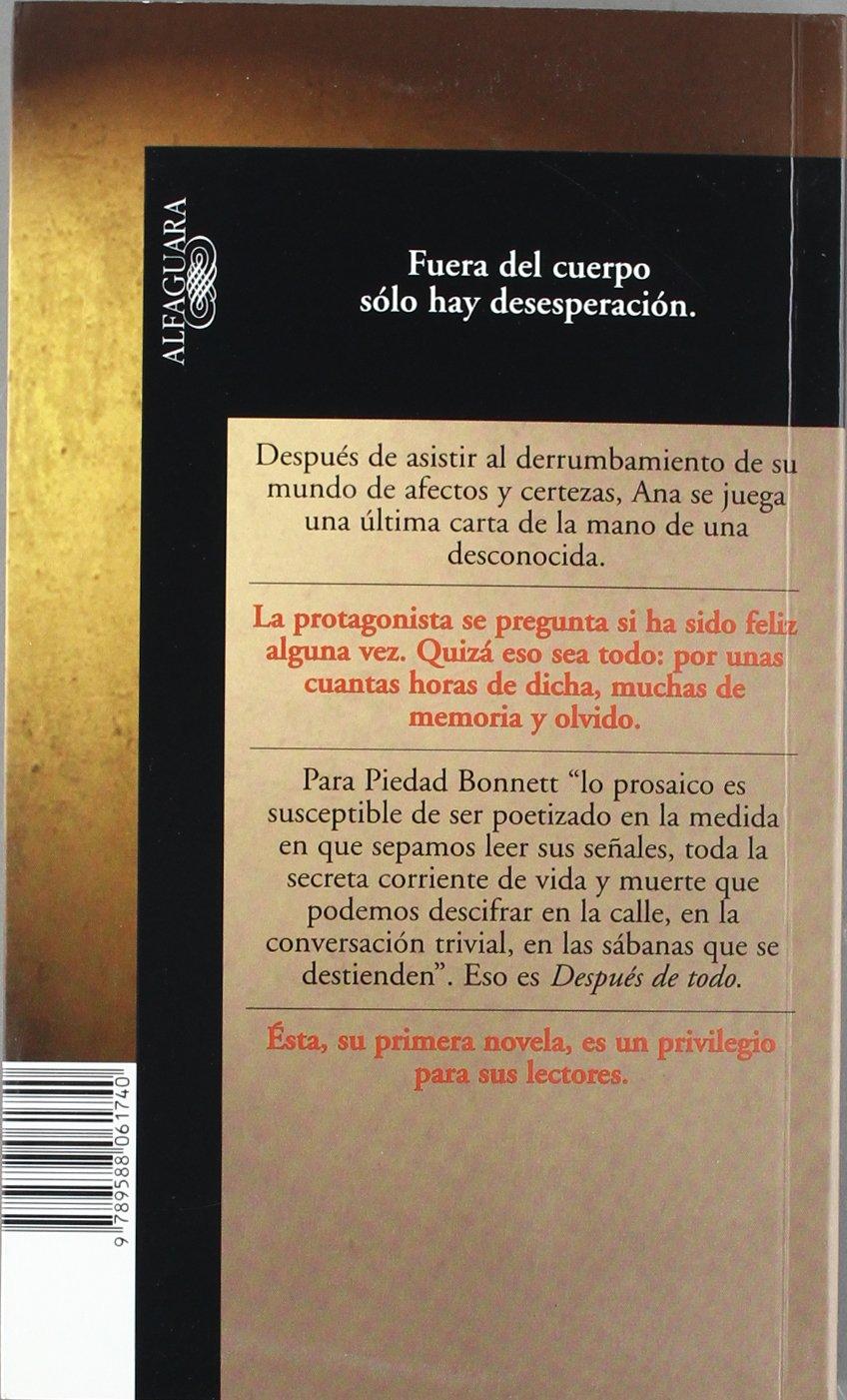 Después de todo: Piedad Bonnett Vélez: 9789588061740: Amazon ...