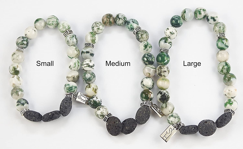 SaintH Tree Agate Lava Stone Diffuser Bracelet includes Essential Oil Sample