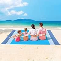 Sand Free Beach Blanket, Extra Large Waterproof Beach Mat-Lightweight Quick Drying Heat Resistant Outdoor Picnic mat for…