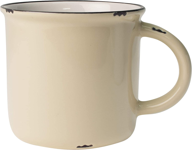 Canvas Home Ltd Canvas Home Tinware Mug, Cream-Pack of 4, Glazed Stoneware