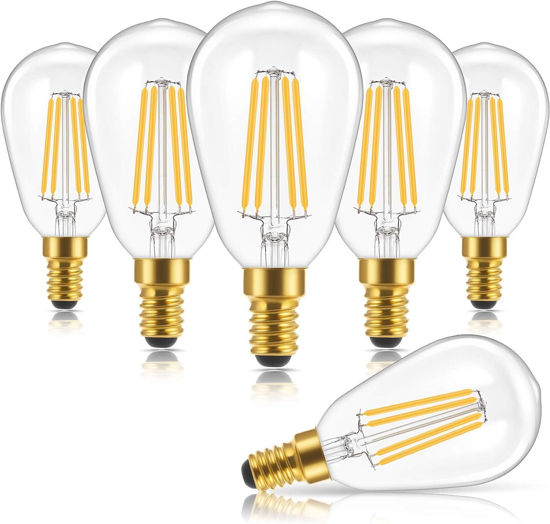 Amazon Com Vintage Led Edison Light Bulb Doresshop Antique St48 Led Filament Light Bulbs 4w 40w Equivalent 400lm E12 Candelabra Base 2700k Warm White No Dimmable For Home Decor Light Fixtures 6