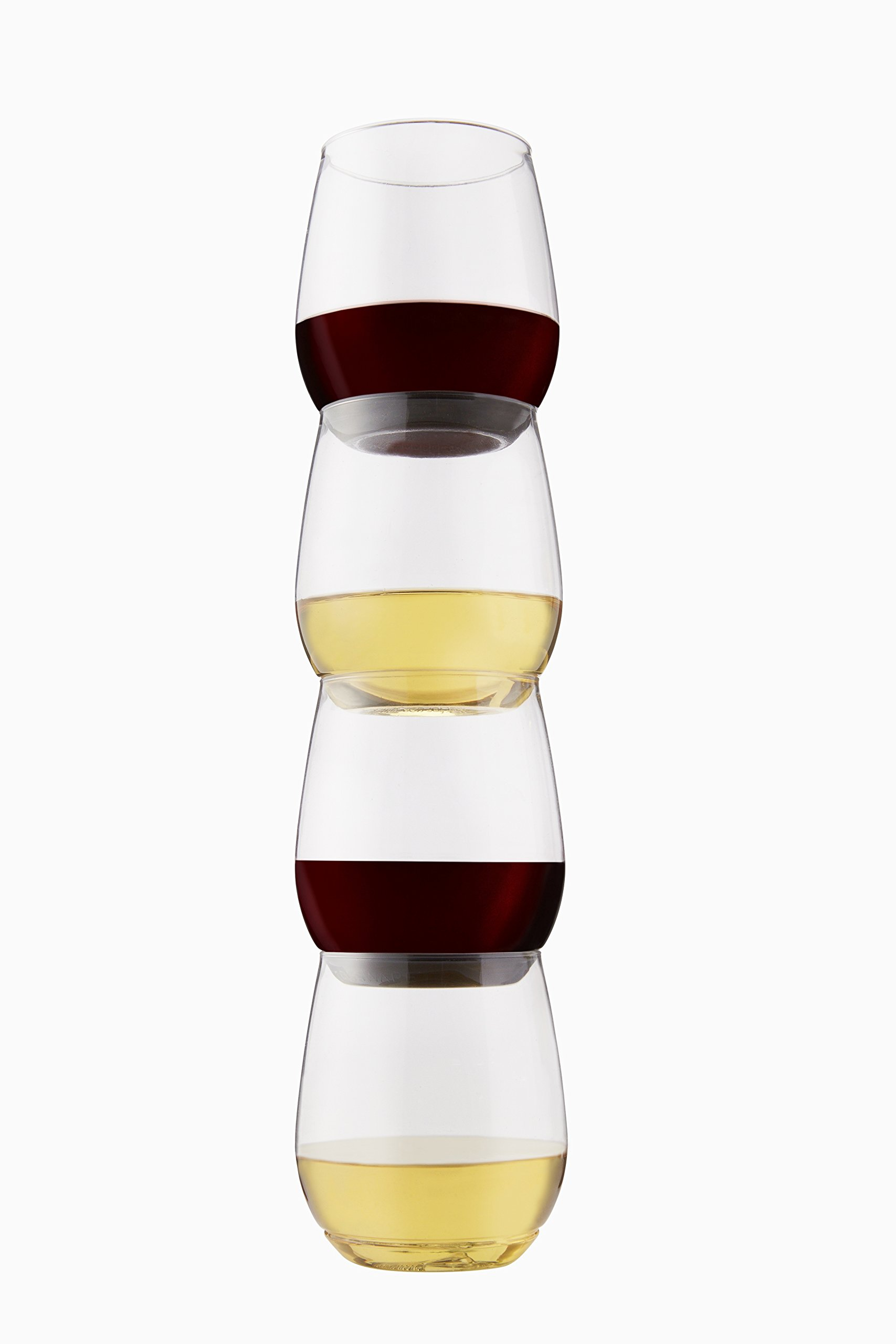 TOSSWARE 14oz Shatterproof Wine & Cocktail Glass, SET OF 12 BPA-FREE Upscale Recyclable/Disposable Plastic Wine Cups by TOSSWARE (Image #4)