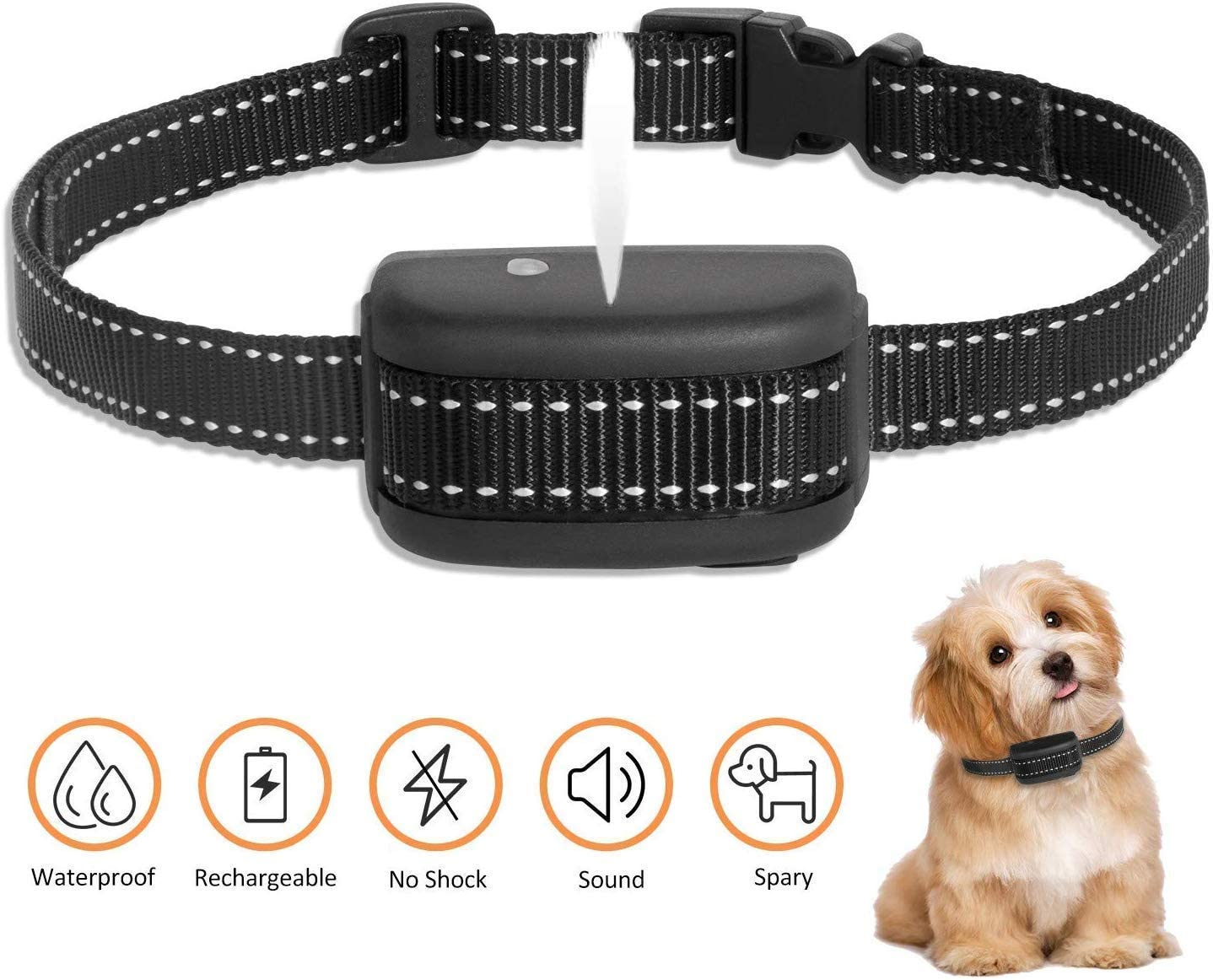 Zeonetak Rechargeable Spray Bark Collar, Citronella Dog Bark Collar Stop Barking Collar for Dogs Small Medium Large,Adjustable Waterproof, No Shock, Harmless Humane