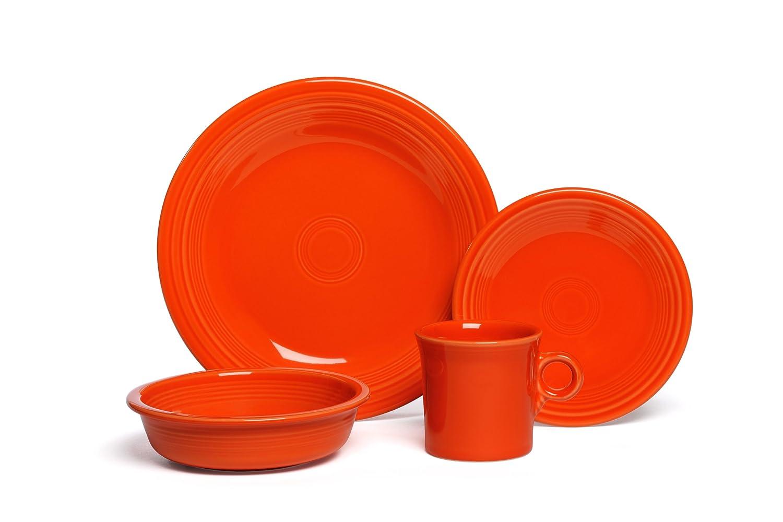 amazoncom fiesta 4piece dinnerware place setting turquoise dinnerware sets - Fiesta Plates