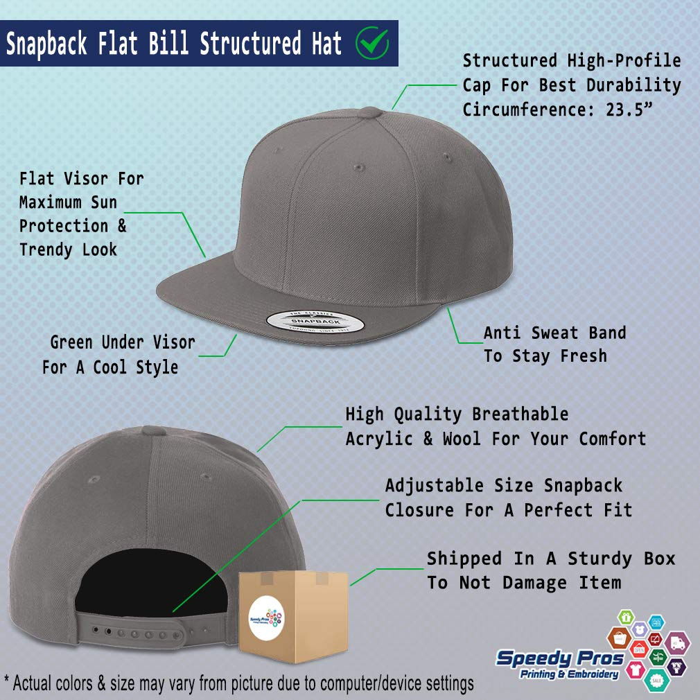 Custom Snapback Baseball Cap Animal Reptile Lizard Embroidery Design Acrylic Cap