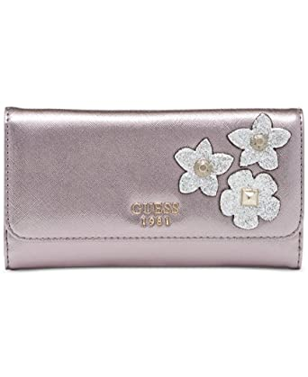 Amazon.com: Guess Liya Slim Caja de embrague cartera: Clothing