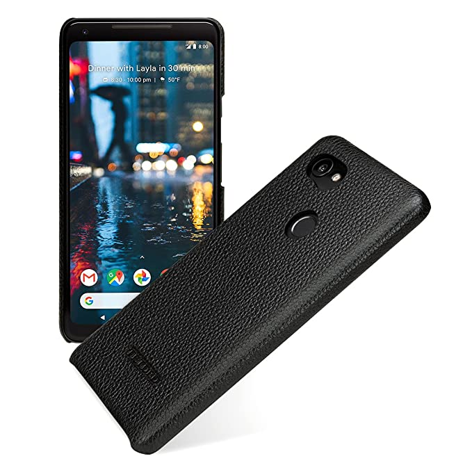 buy online f341a c7a5b TETDED Premium Leather Case for Google Pixel 2 XL, Snap Cover, Caen (Black)