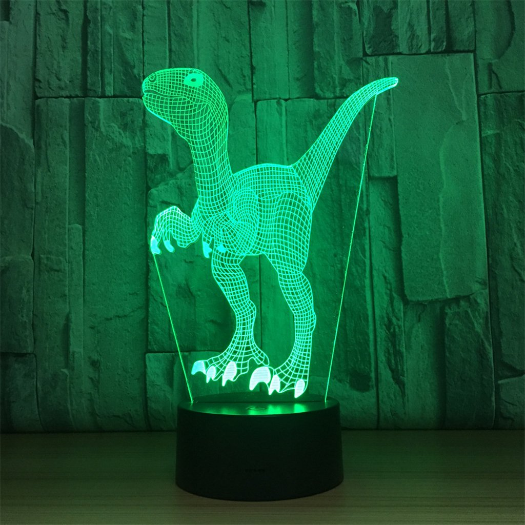 3d Lamp LT&NT animal optical illusion led lights table lamp night light 5 colors changing usb bluetooth speaker birthday christmas gifts for kids -Bluetooth Speaker