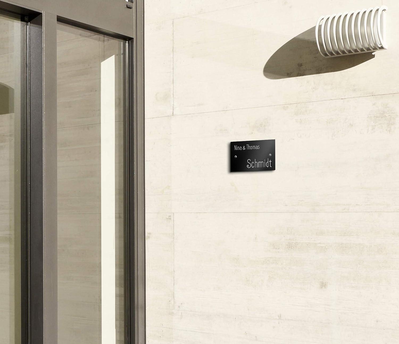Gr/ö/ße 9x6 cm eckig Namensschild Briefkastenschild selbstklebend oder mit Bohrl/öcher Klingelschild mit mehr als 80 Motive Edle T/ürschilder mit Gravur