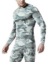 (テスラ)TESLA オールシーズン 長袖 ラウンドネック スポーツシャツ [UVカット・吸汗速乾] コンプレッションウェア パワーストレッチ アンダーウェア R11/19
