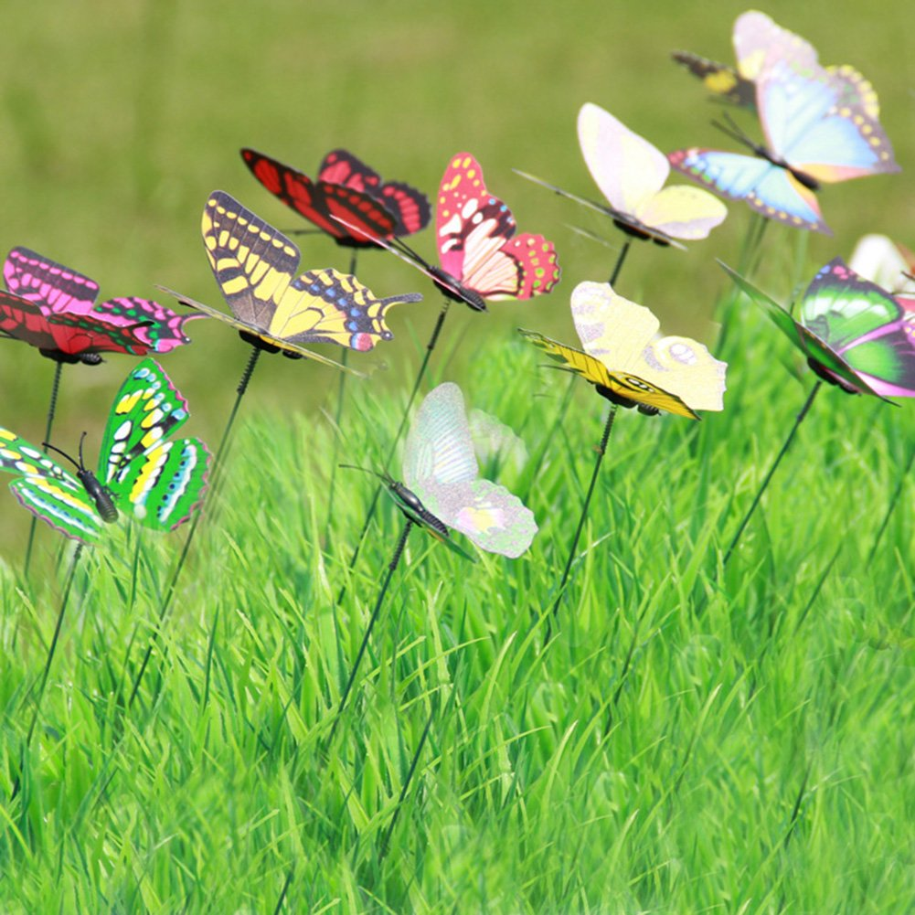 Amazon.com : LeBeila Butterfly Stakes - Garden Yard Ornaments ...