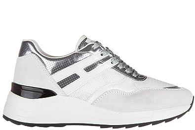 Chaussures baskets sneakers femme en daim r296 allacciato Hogan Rebel 5RIUhWFFK
